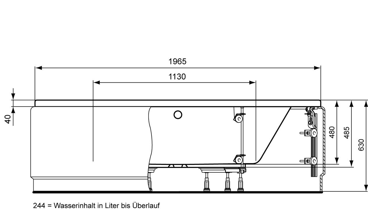 ideal standard aqua eck badewanne 1400 mm power trade shop. Black Bedroom Furniture Sets. Home Design Ideas