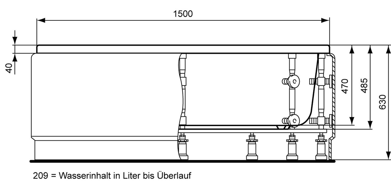 Ideal Standard Aqua Raumspar-Badewanne 1500 K622101 - POWer-Trade | {Badewanne standard 51}