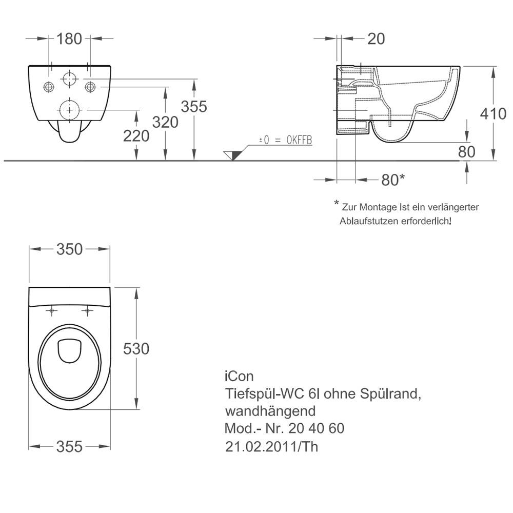 keramag icon tiefsp l wc sp lrandlos 204060 power trade shop. Black Bedroom Furniture Sets. Home Design Ideas